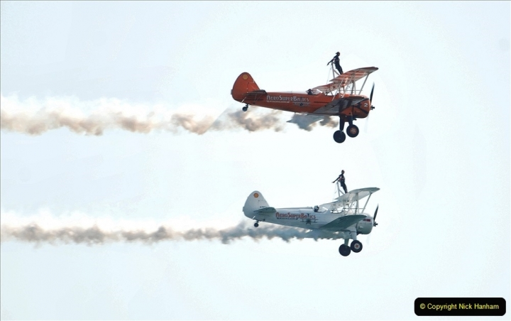 2021-09-03 Bournemouth Air Show Pictures AIR. (142) AeroSuperBatics Wing walkers - Boeing Steraman. 142