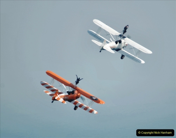 2021-09-03 Bournemouth Air Show Pictures AIR. (147) AeroSuperBatics Wing walkers - Boeing Steraman. 147