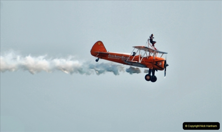 2021-09-03 Bournemouth Air Show Pictures AIR. (152) AeroSuperBatics Wing walkers - Boeing Steraman. 152