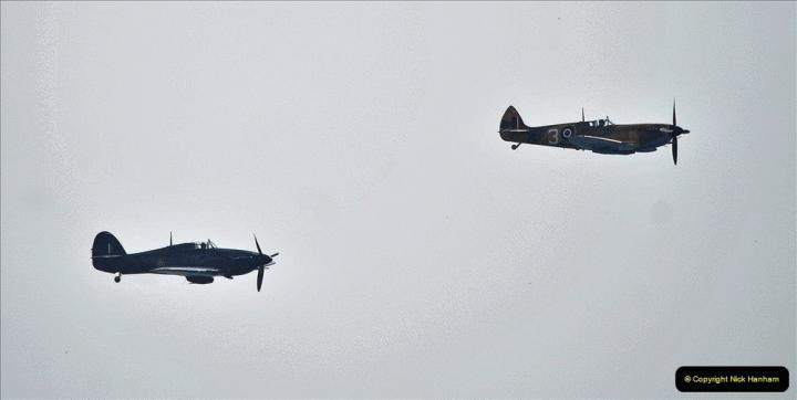 2021-09-03 Bournemouth Air Show Pictures AIR. (20) BBMF Spitfire - Hurricane - DC3 Dakota. 020