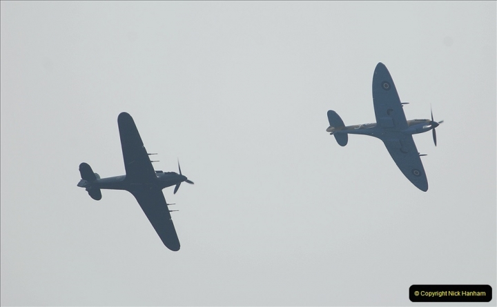 2021-09-03 Bournemouth Air Show Pictures AIR. (21) BBMF Spitfire - Hurricane - DC3 Dakota. 021