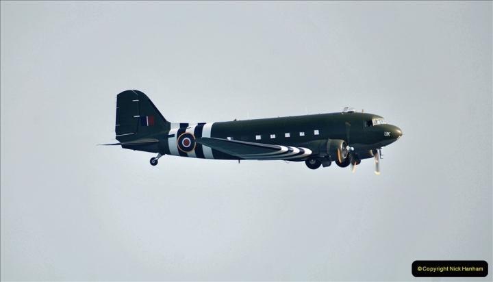 2021-09-03 Bournemouth Air Show Pictures AIR. (34) BBMF Spitfire - Hurricane - DC3 Dakota. 034