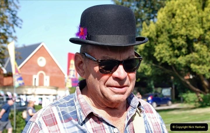 2021-09-04 Bridport Hat Festival. (131) On the Green. 131