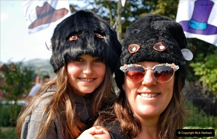 2021-09-04 Bridport Hat Festival. (135) On the Green. 135