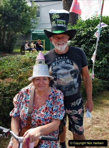 2021-09-04 Bridport Hat Festival. (155) On the Green. 155