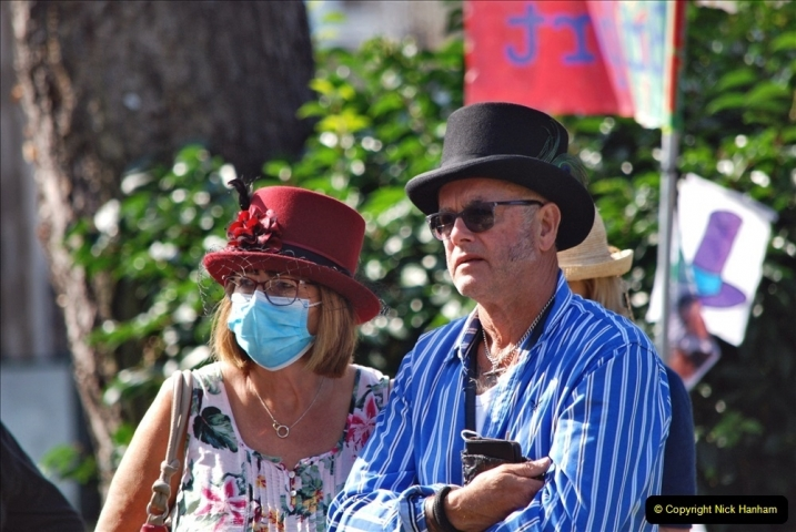 2021-09-04 Bridport Hat Festival. (179) On the Green. 179