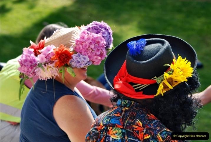 2021-09-04 Bridport Hat Festival. (196) On the Green. 196