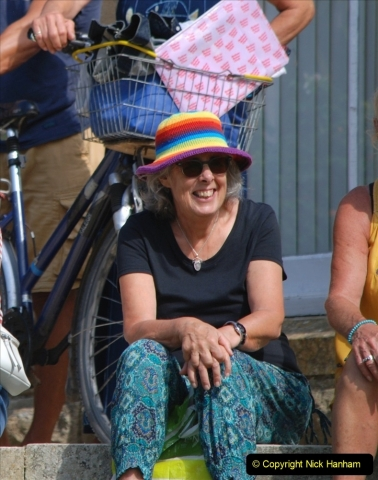 2021-09-04 Bridport Hat Festival. (218) On the Green. 218