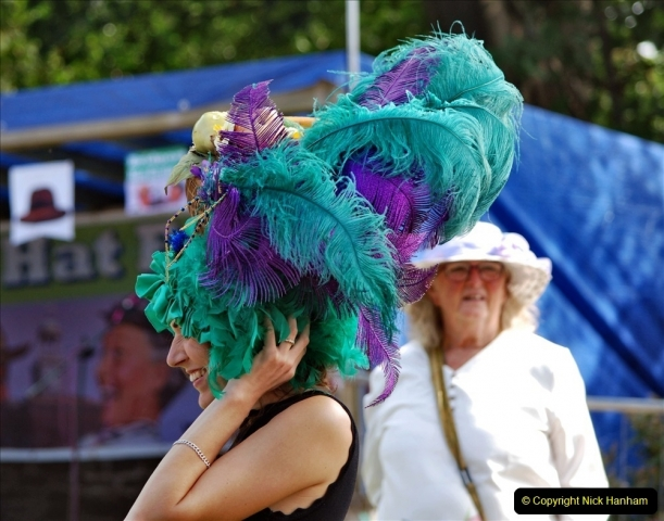 2021-09-04 Bridport Hat Festival. (230) On the Green. 230