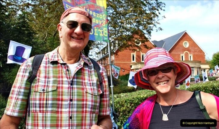 2021-09-04 Bridport Hat Festival. (239) On the Green. 239