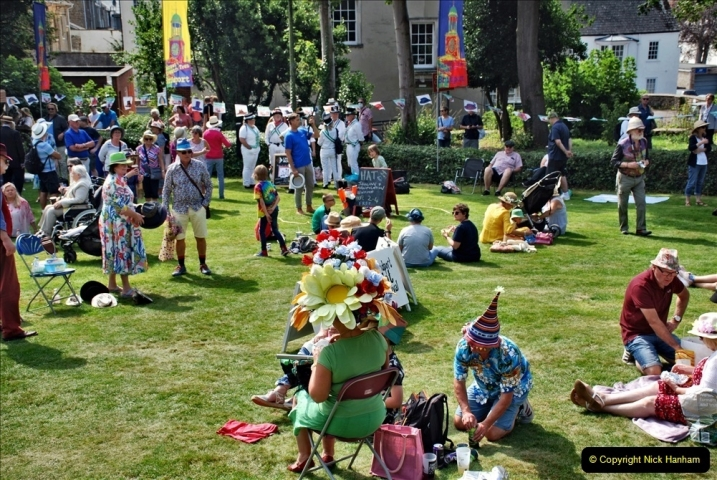2021-09-04 Bridport Hat Festival. (243) On the Green. 243