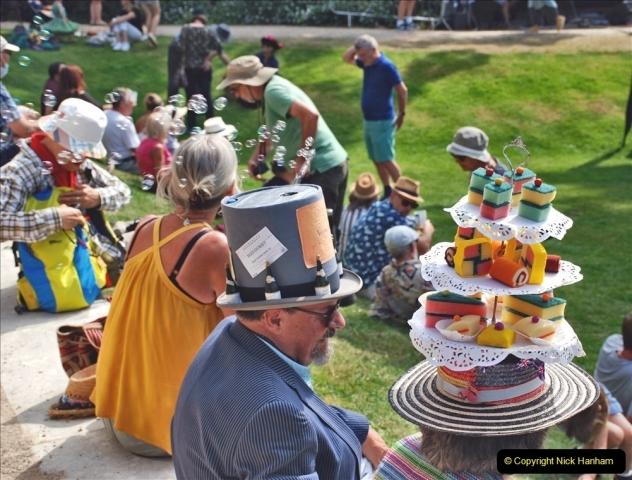 2021-09-04 Bridport Hat Festival. (245) On the Green. 245