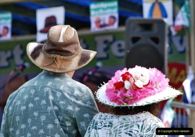 2021-09-04 Bridport Hat Festival. (265) On the Green. 265