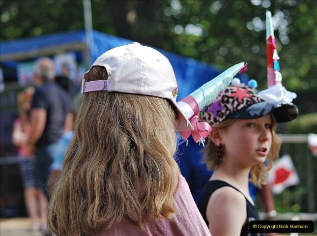 2021-09-04 Bridport Hat Festival. (291) On the Green. 291
