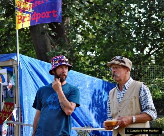2021-09-04 Bridport Hat Festival. (296) On the Green. 296