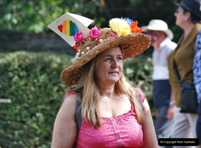 2021-09-04 Bridport Hat Festival. (308) On the Green. 308