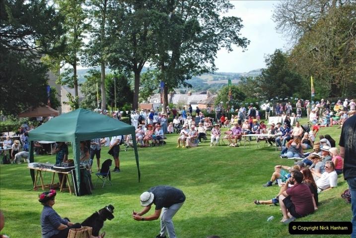 2021-09-04 Bridport Hat Festival. (313) On the Green. 313