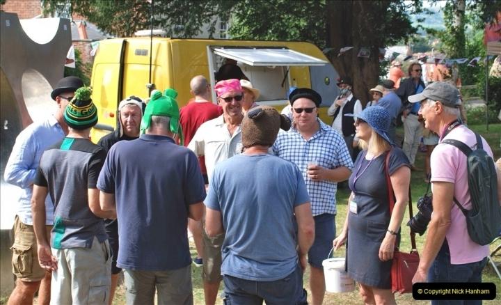 2021-09-04 Bridport Hat Festival. (318) On the Green. 318
