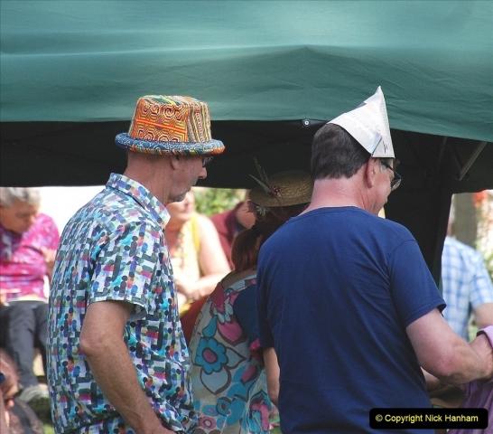 2021-09-04 Bridport Hat Festival. (319) On the Green. 319