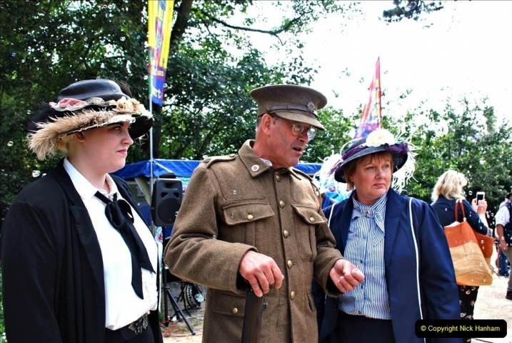 2021-09-04 Bridport Hat Festival. (331) On the Green. 331