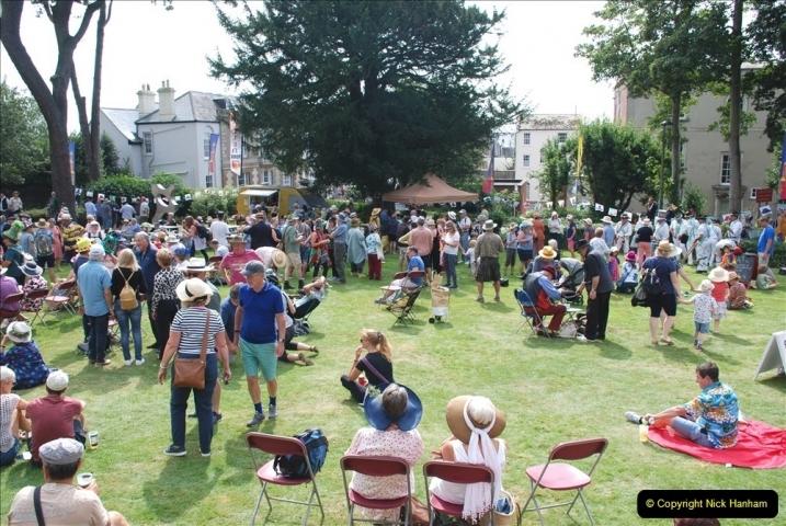 2021-09-04 Bridport Hat Festival. (340) On the Green. 340