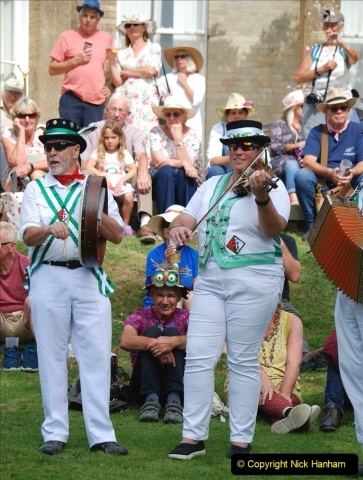 2021-09-04 Bridport Hat Festival. (358) On the Green. The Morris Men and Ladies. 358
