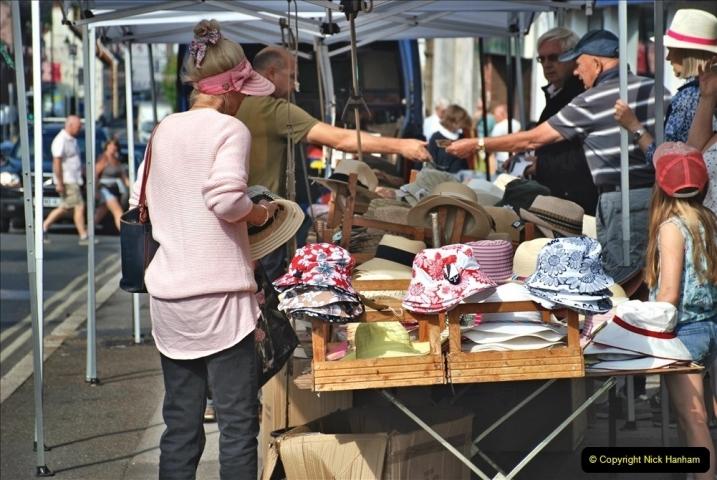2021-09-04 Bridport Hat Festival. (39) In the town. 039