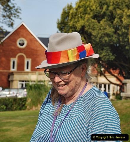 2021-09-04 Bridport Hat Festival. (60) On the Green. 060