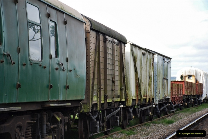 2021-09-17 SR Track Inspection Walk Norden to Swanage five & a half miles. (112) Stock at Harmans Cross. 112