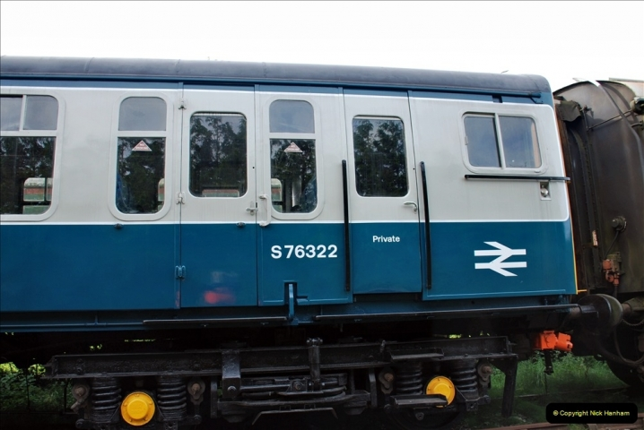 2021-09-17 SR Track Inspection Walk Norden to Swanage five & a half miles. (114) Stock at Harmans Cross. 114