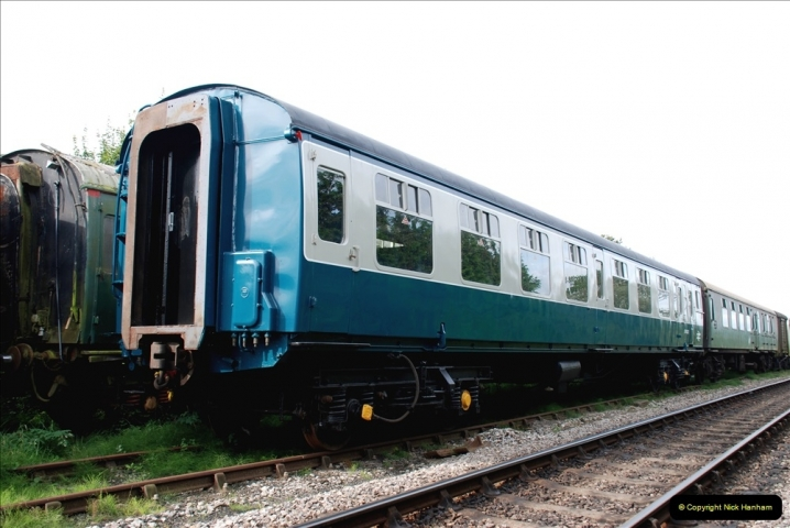 2021-09-17 SR Track Inspection Walk Norden to Swanage five & a half miles. (115) Stock at Harmans Cross. 115