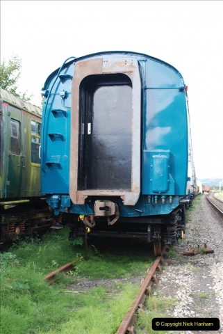 2021-09-17 SR Track Inspection Walk Norden to Swanage five & a half miles. (116) Stock at Harmans Cross. 116