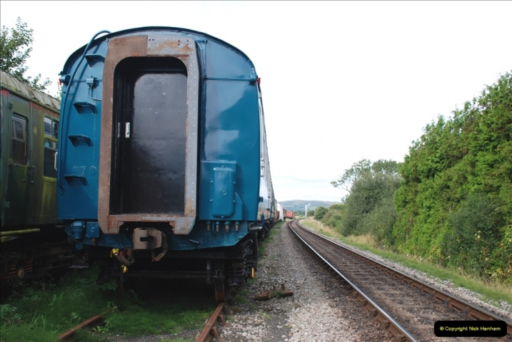 2021-09-17 SR Track Inspection Walk Norden to Swanage five & a half miles. (118) Stock at Harmans Cross. 118