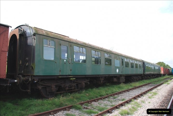 2021-09-17 SR Track Inspection Walk Norden to Swanage five & a half miles. (122) Stock at Harmans Cross. 122