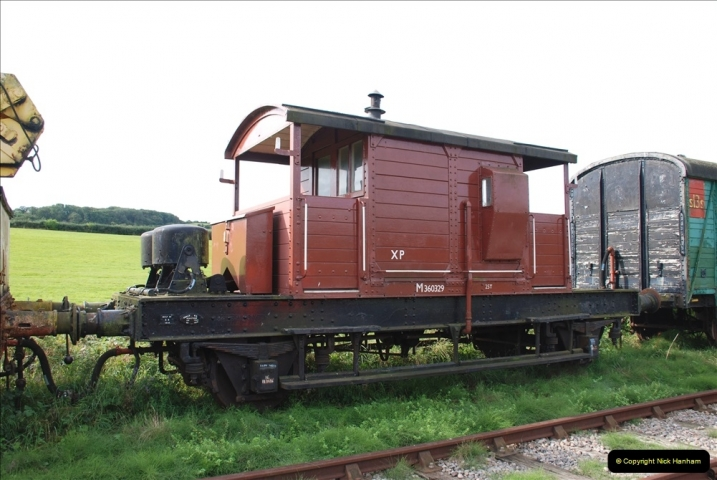 2021-09-17 SR Track Inspection Walk Norden to Swanage five & a half miles. (124) Stock at Harmans Cross. 124