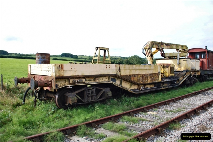 2021-09-17 SR Track Inspection Walk Norden to Swanage five & a half miles. (125) Stock at Harmans Cross. 125