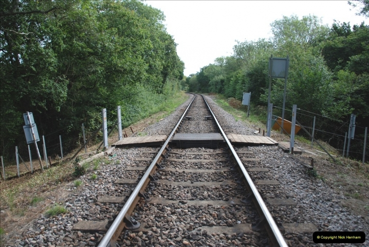 2021-09-17 SR Track Inspection Walk Norden to Swanage five & a half miles. (163) New work at Wilderness. 163