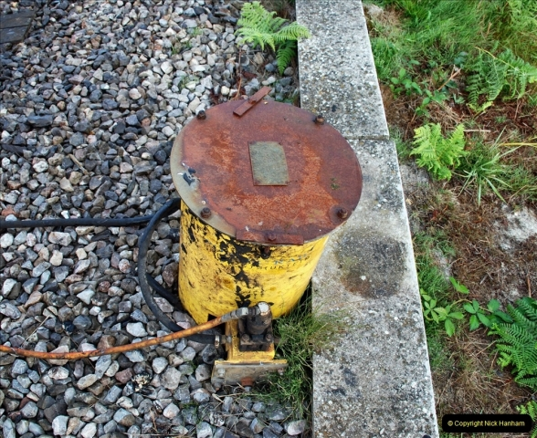 2021-09-17 SR Track Inspection Walk Norden to Swanage five & a half miles. (19) Flange greaser drum.  019