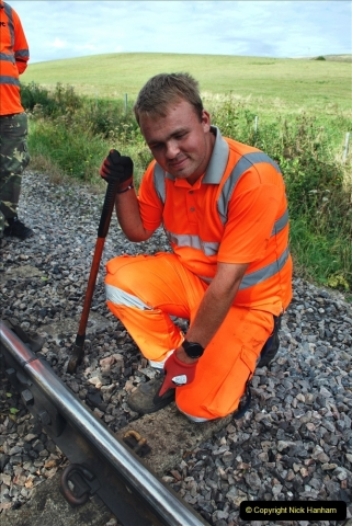 2021-09-17 SR Track Inspection Walk Norden to Swanage five & a half miles. (200) The Golden Spike. 200