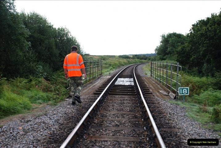 2021-09-17 SR Track Inspection Walk Norden to Swanage five & a half miles. (67) Bridge inspection. 067