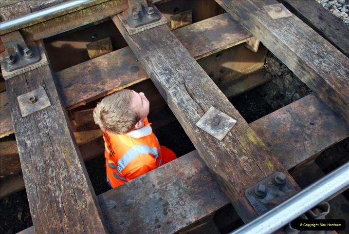 2021-09-17 SR Track Inspection Walk Norden to Swanage five & a half miles. (68) Bridge inspection. 068