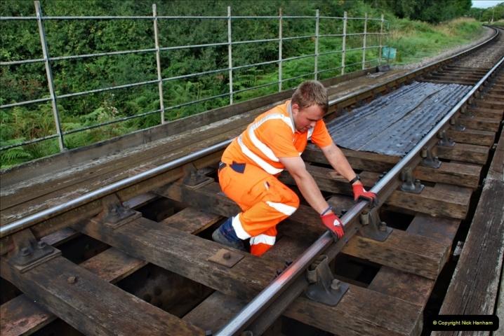 2021-09-17 SR Track Inspection Walk Norden to Swanage five & a half miles. (74) Bridge inspection. 074