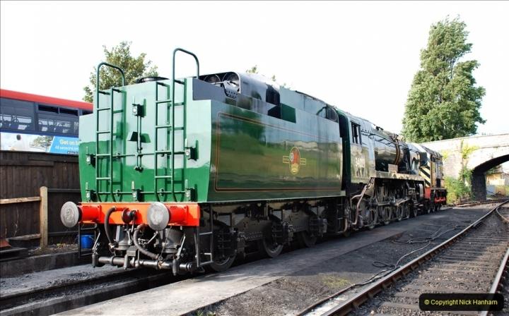 2021-09-08 SR back on one train running. (11) 34028 sidelined with cracked bogie frame. 011