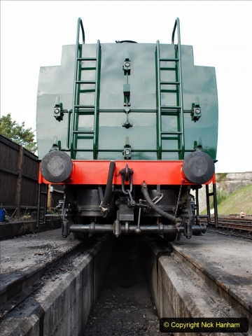2021-09-08 SR back on one train running. (12) 34028 sidelined with cracked bogie frame. 012