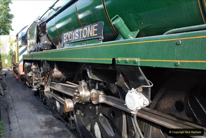 2021-09-08 SR back on one train running. (19) 34028 sidelined with cracked bogie frame. 019