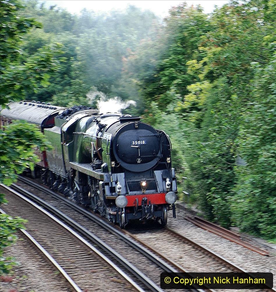 2021-07-09 - 35018 at Parkstone, Poole, Dorset. (2) 019