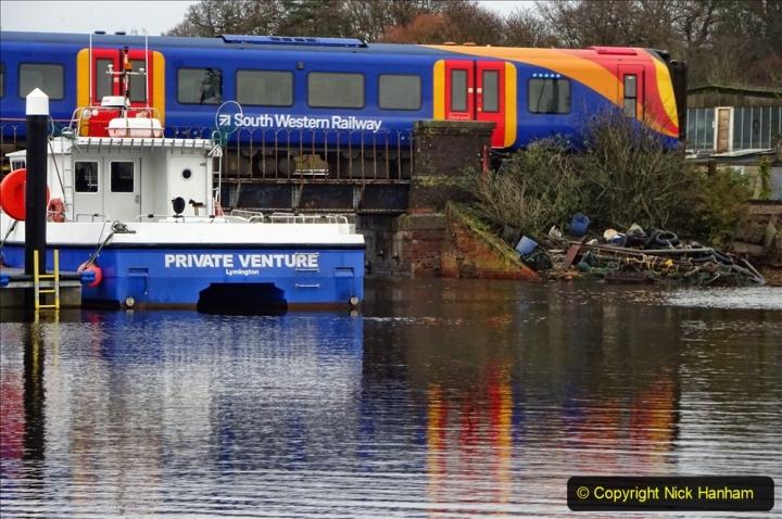 2020-12-14 At Lymington, Hampshire. (23) Brockenhurst to Lymington Pier train. 023