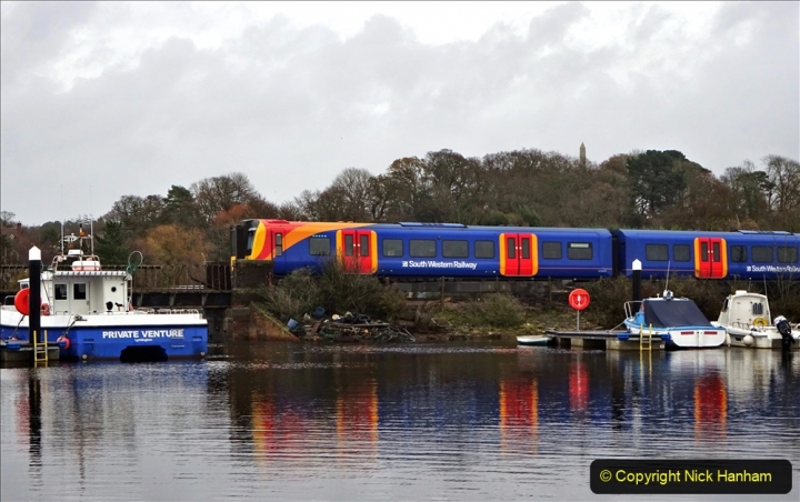 2020-12-14 At Lymington, Hampshire. (26) Lymington Pier to Brockenhurst train. 026