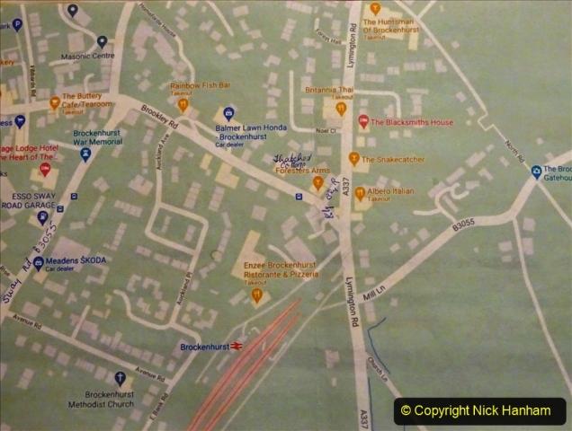2020-12-14 Brockenhurst, Hampshire. (1) Brockenhurst map. 053