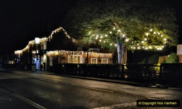 2020-12-14 Brockenhurst, Hampshire. (37) The town at night. 089